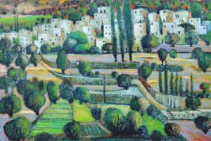 Nabil Anani, Battir, 2013, acrylic on canvas, 100 x 110 cm