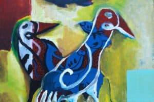 Karim Abu Shakra, Breed I (2017), acrylic on canvas, 70 x 70 cm