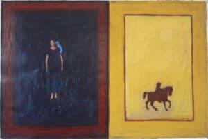 Asad Azi, Untitled (2009), acrylic on paper, 70 x 100 cm