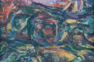Shafik Radwan, Maram, 2004, acrylic on canvas, 80 x 50 cm