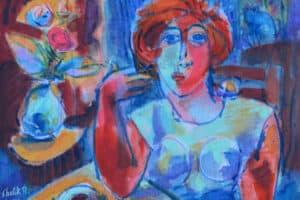 Shafik Radwan, Sweet Dreams II, 2014, mixed media on canvas, 26 x 33 cm