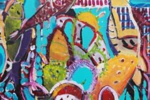 Karim Abu Shakra, Nest, 2017, acrylic on canvas, 60 x 60 cm