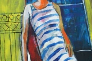 Mohammad Khalil, Portrait of a Stranger, 2014, acrylic on canvas, 121 x 91 cm