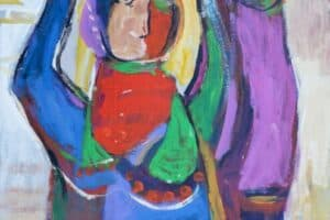 Mohammad Khalil, Harvest #2, 2015, acrylic on cardboard, 70 x 50 cm