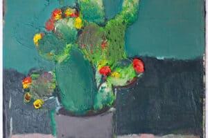 Karim Abu Shakra, Sabbar (2020), oil on paper, 70 x 50 cm