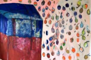 Rana Samara, PUBG, 2019, acrylic on canvas, 210 x 245 cm