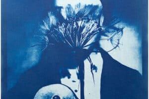 Shada Safadi, Staring #3 (2020), cyanotype print (edition of 5), 28 x 20 cm