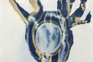 Shada Safadi, Untitled (2020), cyanotype print, 40 x 29 cm