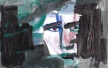 Shafik Radwan, Untitled SR.07 (2013), watercolor on paper, 30 x 42 cm