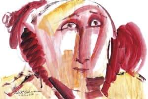 Shafik Radwan, Untitled SR.09 (2010), watercolor on paper, 30 x 42 cm