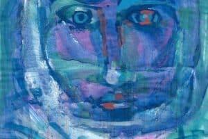 Shafik Radwan, Untitled SR.12 (2014), watercolor on paper, 42 x 30 cm
