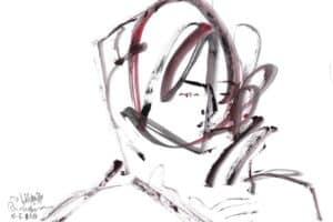Shafik Radwan, Untitled SR.14 (2010), watercolor on paper, 30 x 42 cm