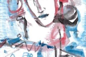 Shafik Radwan, Untitled SR.02 (2014), watercolor on paper, 42 x 30 cm