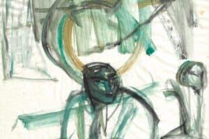 Shafik Radwan, Untitled SR.04 (2004), watercolor on paper, 42 x 30 cm