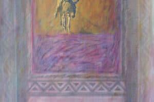 Asad Azi, Untitled (2004), oil on paper, 100 x 60 cm