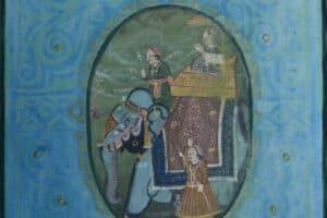 Asad Azi, Untitled (2020), mixed media on canvas, 80 x 50 cm
