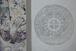 Asad Azi, Untitled (2020), mixed media on canvas, 70 x 90 cm