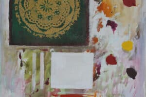 Asad Azi, Untitled (2020), acrylic on canvas, 60 x 37 cm