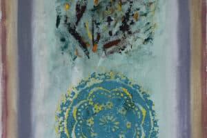 Asad Azi, Untitled (2020), acrylic on canvas, 60 x 40 cm