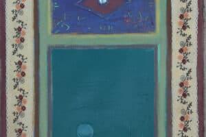 Asad Azi, Untitled (2020), acrylic on canvas, 40 x 33 cm