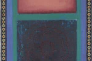 Asad Azi, Untitled (2020), acrylic on canvas, 40 x 34 cm