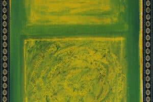 Asad Azi, Untitled (2020), acrylic on canvas, 40 x 35 cm