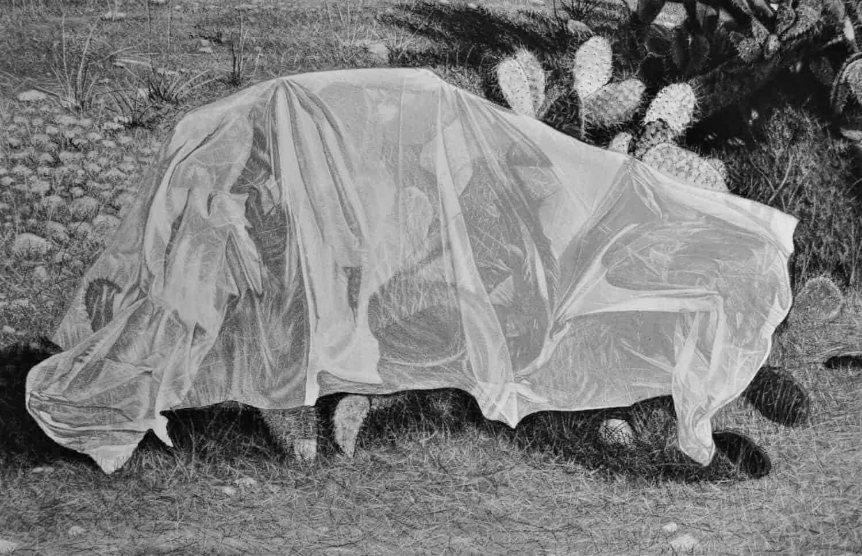 Samah Shihadi, Untitled #2, 2018, charcoal on paper, 42.5 x 65 cm