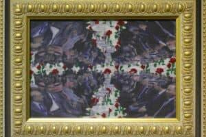 Mahdi Baraghithi, Frame #7, 2015, mixed media, 32.5 x 41 cm