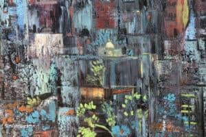 Osama Said, Jerusalem, 2018, oil on canvas, 40 x 50 cm