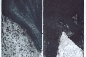 Shada Safadi, Separation #1, 2018, etching, monotype, 35 x 30 cm