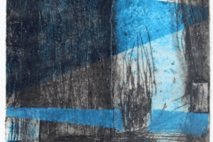 Shada Safadi, Vision, 2018, etching, monotype, 42 x 30 cm