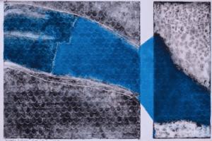 Shada Safadi, Separation #3, 2018, etching, monotype, 35 x 55 cm