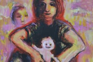 Raed Issa, Hope, 2014, Acrylic on canvas, 80 x 60 cm
