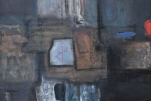 Naser Jawabreh, Composition (#1), 2007, Mixed media on canvas, 120 x 120 cm