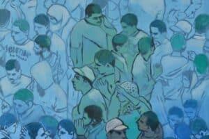 Khaled Hourani, March, 2019, acrylic on canvas, 76 x 67 cm
