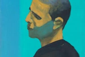 Khaled Hourani, Unknown #3, 2019, acrylic on canvas, 33 x 32 cm