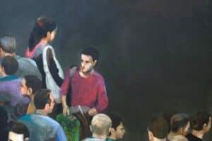 Khaled Hourani, Memory, 2011, acrylic on canvas, 81 x 88 cm