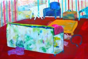 Rana Samara, Intimate Space #10, 2015, acrylic on canvas, 208 x 323 cm