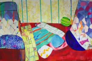 Rana Samara, Intimate Space #20, 2019, acrylic on canvas, 200 x 345 cm
