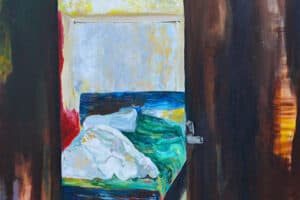 Rana Samara, Intimate Space #4, 2014, acrylic on canvas, 170 x 170 cm