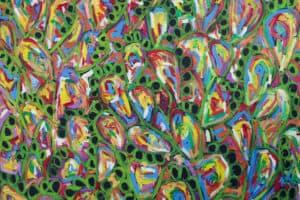 Fouad Agbaria, The Cactus Revolt, 2012, oil on canvas, 80 x 80 cm