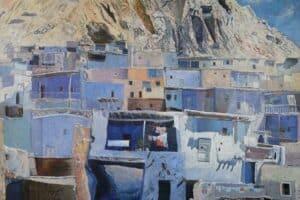 Samir Salameh, Ma'lula, 1968, oil on canvas, 112 x 160 cm