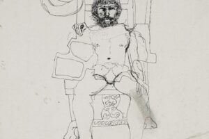Samir Salameh, Untitled, 1976, ink on paper, 17 x 15 cm