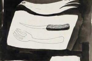 Samir Salameh, Untitled, 1978, ink on paper, 18 x 16 cm