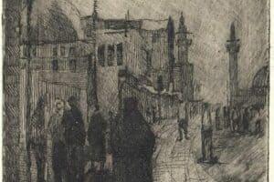 Samir Salameh, Untitled, 1972, intaglio print, 20 x 15 cm
