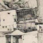 Ma'lula, 1973, ink on paper, 23.5 x 23.5 cm