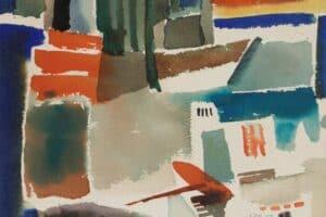 Samir Salameh, Untitled, 1970, watercolour on paper, 15 x 19 cm