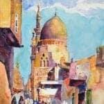 Cairo, 2017, watercolour on paper, 45 x 30 cm
