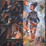 Untitled, 2019, Acrylic on canvas, 47 cm x 41 cm