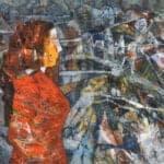 Untitled, 2019, Acrylic on canvas, 41 cm x 47 cm